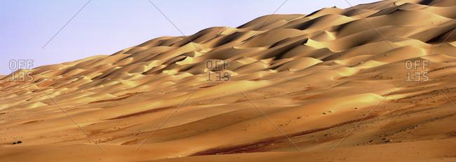 United Arab Emirates- Emirate ofAbuDhabi- Sand dunes at Quarter desert
