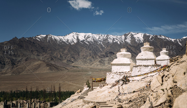 India- Ladakh- Buddhist temple in Himalayas