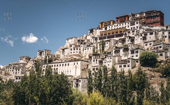 India- Ladakh- Thiksey- HillsideThikse Monastery
