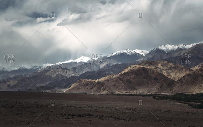 India- Ladakh- Cloudy sky over Himalayas