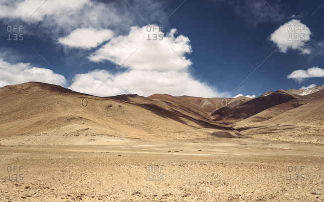 India- Ladakh- Brown barren landscape of Himalayas