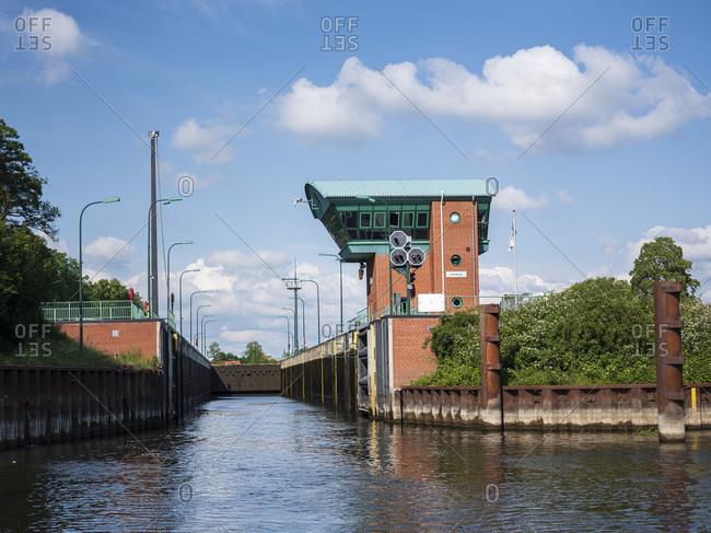 Germany- Schleswig-Holstein- Lauenburg- Lock onElbe-Lubeck Canal