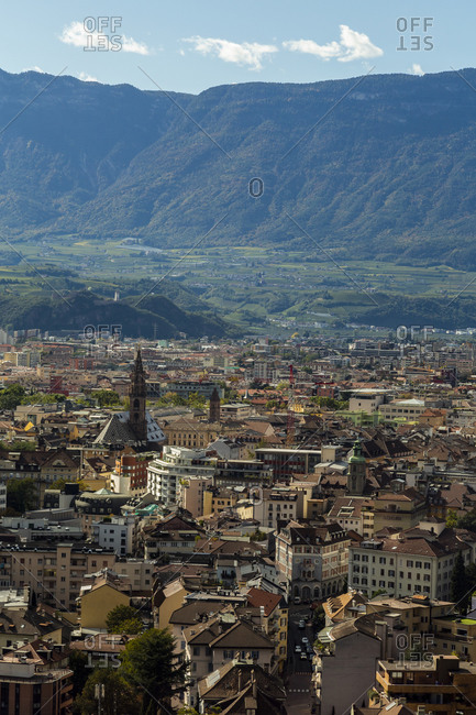 Italy- Bozen-Cityscapeseen from cable car