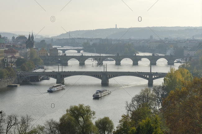 Czech Republic- Prague- Various bridges across Vltava river