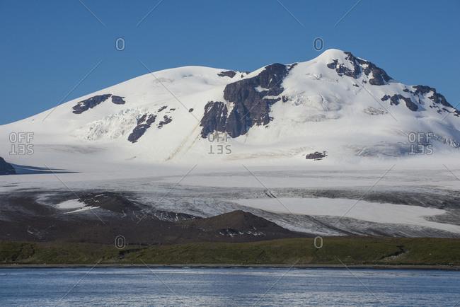 UK-South Georgia and South Sandwich Islands- Glacial scenery of Salisbury Plain
