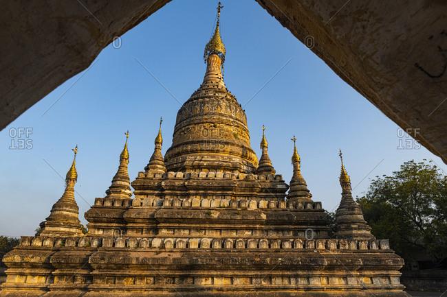 Myanmar- Mandalay Region- Bagan- Weathered stupa of Ananda Temple