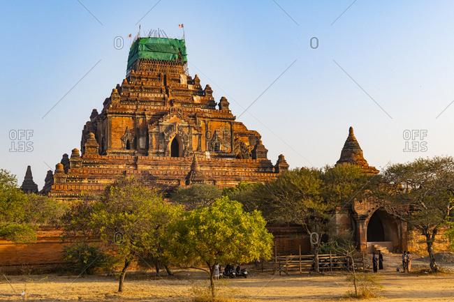 Myanmar- Mandalay Region- Bagan-Dhammayangyi Temple at dawn