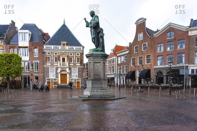 Netherlands- North Holland- Haarlem- Statue of Johann Costerus on Grote Markt square
