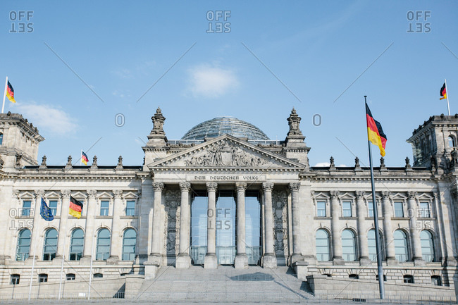 Germany- Berlin- Facade of Reichstag
