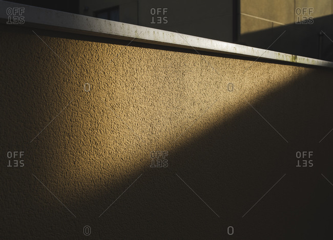 Detailed view of textured wall in sunlight