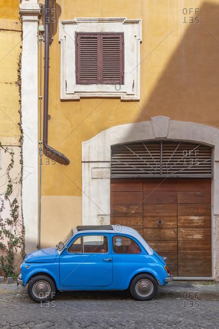 March 13, 2019: Fiat 500 (Fiat Cinquecento), Regola, Rome, Lazio, Italy, Europe