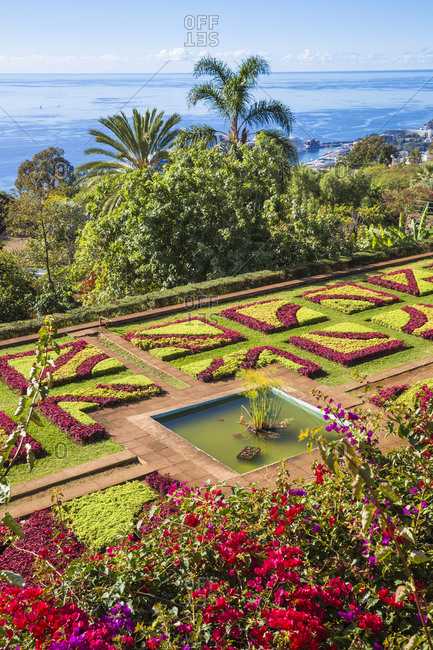 November 18, 2019: Botanical Gardens, Monte, Funchal, Madeira, Portugal, Atlantic, Europe