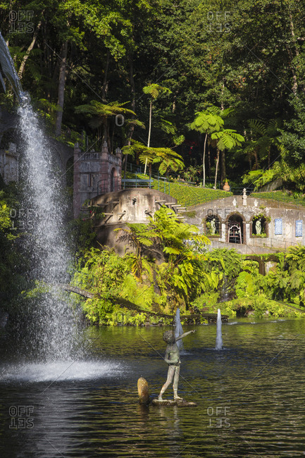 November 22, 2019: Monte Palace Tropical Garden, Monte, Funchal, Madeira, Portugal, Atlantic, Europe