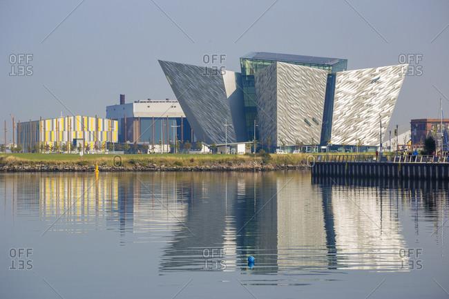 October 2, 2015: View of the Titanic Belfast Museum, Belfast, Ulster, Northern Ireland, United Kingdom, Europe