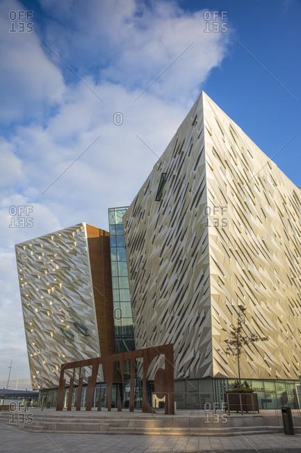October 4, 2015: View of the Titanic Belfast Museum, Belfast, Ulster, Northern Ireland, United Kingdom, Europe