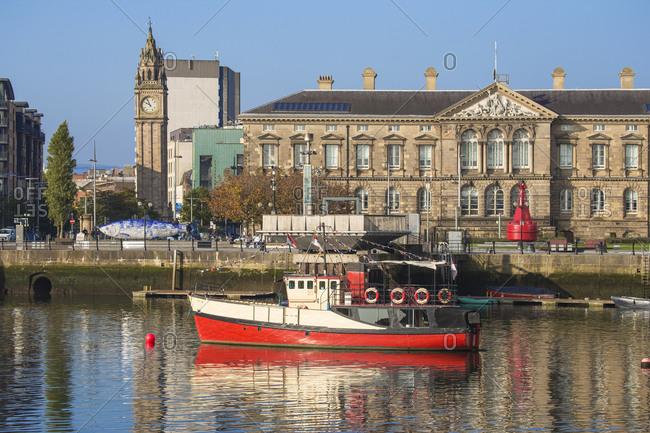 October 4, 2015: The Lagan waterfront, Belfast, Ulster, Northern Ireland, United Kingdom, Europe