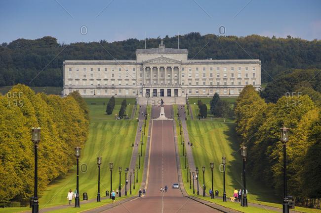 October 4, 2015: Stormont Parliament Buildings, Belfast, Ulster, Northern Ireland, United Kingdom, Europe