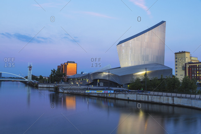 August 12, 2015: Imperial War Museum North, Salford Quays, Manchester, England, United Kingdom, Europe