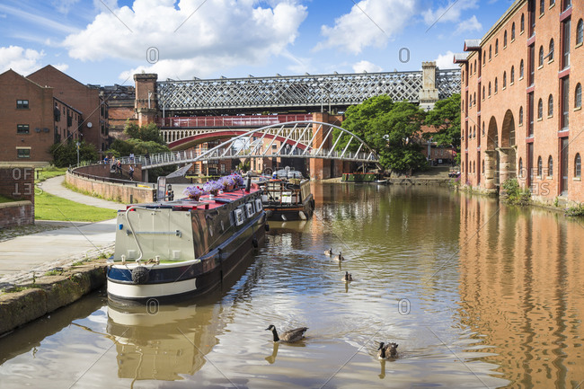 August 15, 2015: Deansgate, 1761 Bridgewater Canal, Manchester, Greater Manchester, England, United Kingdom, Europe