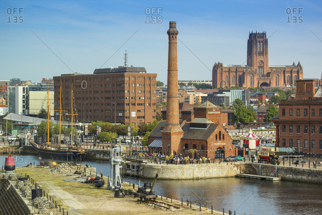 September 11, 2015: Albert Dock, UNESCO World Heritage Site, Liverpool, Merseyside, England, United Kingdom, Europe