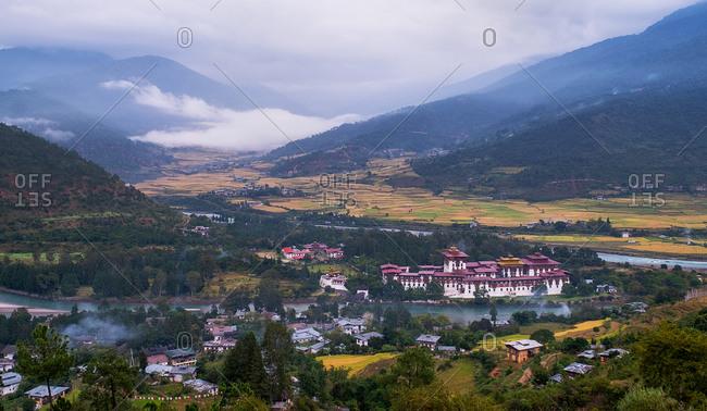 Punakha Dzong, the second largest and second oldest dzong in Bhutan, Punakha, Bhutan, Asia