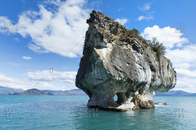 Marble Caves Sanctuary, Marble Chapel on General Carrera Lake, Puerto Rio Tranquilo, Aysen Region, Patagonia, Chile, South America
