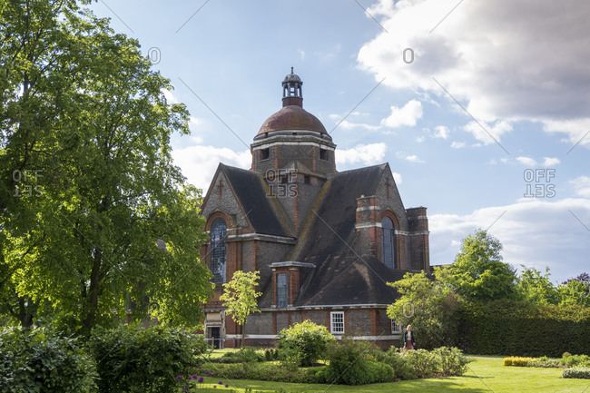 May 12, 2020: The Free Church by Edwin Lutyens built in the Arts and Crafts style, Hampstead Garden Suburb, Finchley and Golders Green, London, England, United Kingdom, Europe