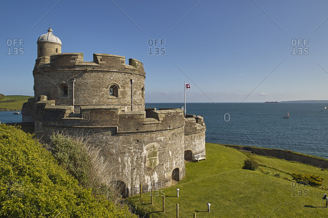 May 19, 2008: The historic St. Mawes Castle, built in the 16th century to defend the entrance to Falmouth harbor, St. Mawes, southern Cornwall, England, United Kingdom, Europe