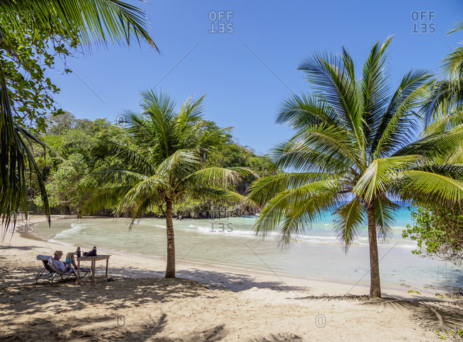 February 21, 2020: Frenchman's Cove Beach, Portland Parish, Jamaica, West Indies, Caribbean, Central America