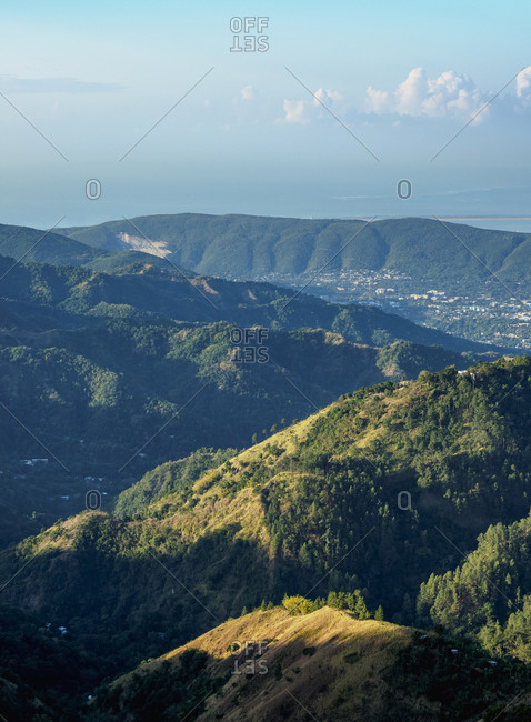 Landscape of Blue Mountains, Saint Andrew Parish, Jamaica, West Indies, Caribbean, Central America