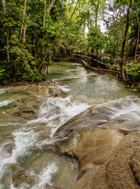 Dunn's River Falls, Ocho Rios, Saint Ann Parish, Jamaica, West Indies, Caribbean, Central America