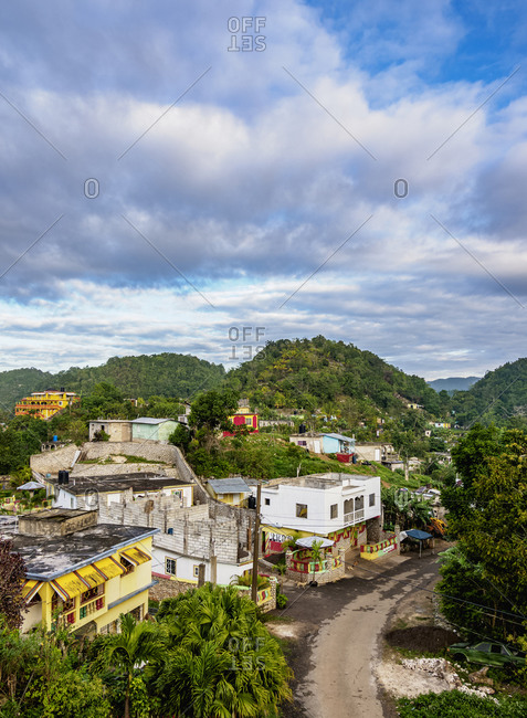 February 25, 2020: Nine Mile, Bob Marley's birthplace, elevated view, Saint Ann Parish, Jamaica, West Indies, Caribbean, Central America