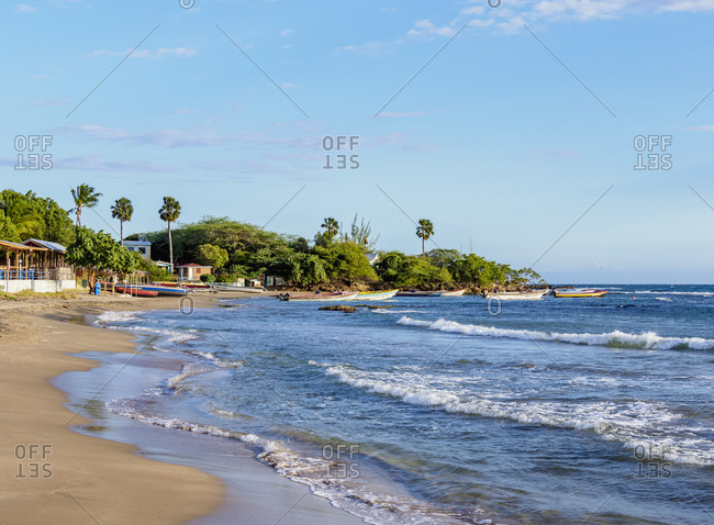 March 2, 2020: Frenchman's Beach, Treasure Beach, Saint Elizabeth Parish, Jamaica, West Indies, Caribbean, Central America