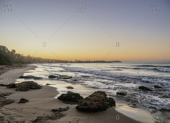 Frenchman's Beach at dawn, Treasure Beach, Saint Elizabeth Parish, Jamaica, West Indies, Caribbean, Central America