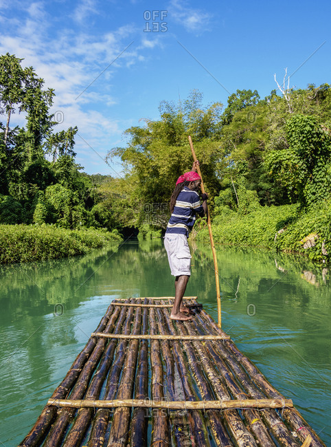 February 26, 2020: Martha Brae Rafting, Trelawny Parish, Jamaica, West Indies, Caribbean, Central America