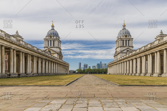 June 2, 2020: Old Royal Naval College, Greenwich, UNESCO World Heritage Site, London, England, United Kingdom, Europe
