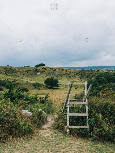 Wooden structure in a rural field