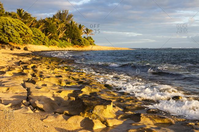 Sunrise on Hanalei Beach, Kauai, Hawaii
