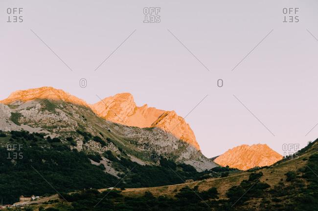 Colorful landscape in Somiedo National Par