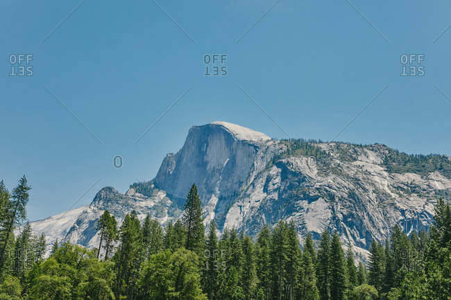 Views of Yosemite National Park in the Summer in northern California.