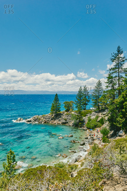 Views of Lake Tahoe in the summertime in northern California.