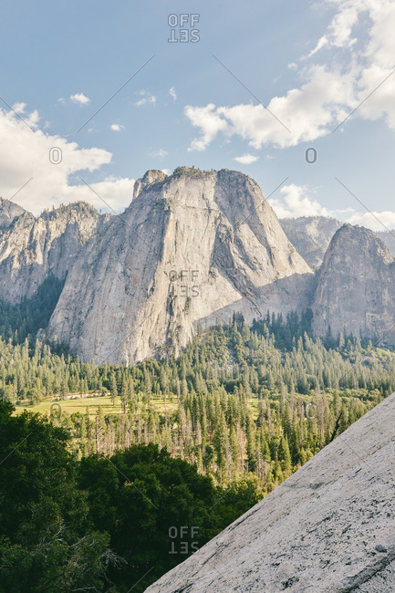 Views of Yosemite National Park Valley in northern California.