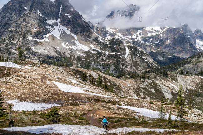 Hiking scenes in the beautiful North Cascades wilderness.