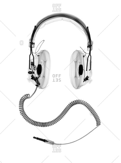 X-ray of Headphones with cord