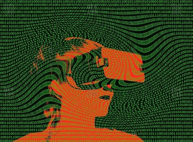 Conceptual illustration of virtual reality