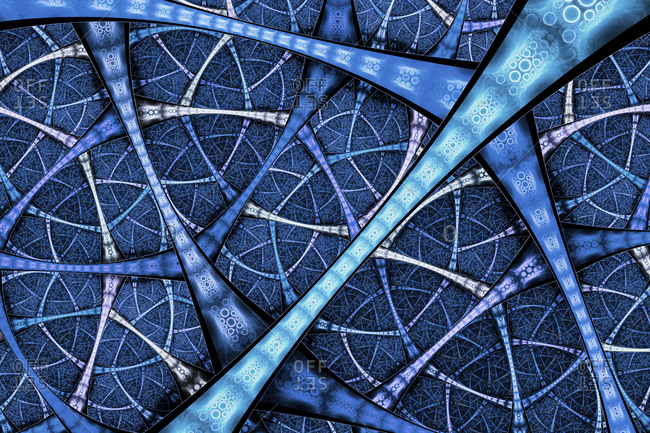 Multilayered futuristic infrastructure, conceptual illustration.