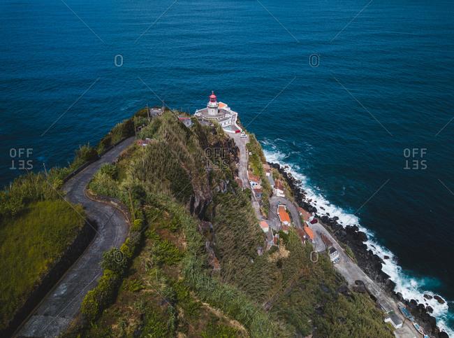 Azores, Sao Miguel, Farol da Ponta do Arnel