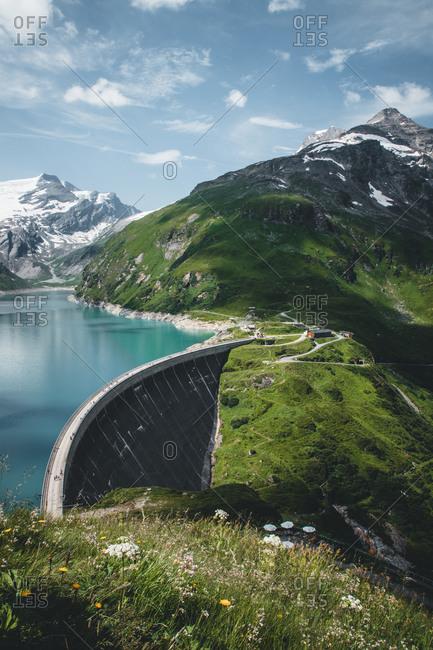 Austria, Salzburg, Kaprun high mountain reservoirs