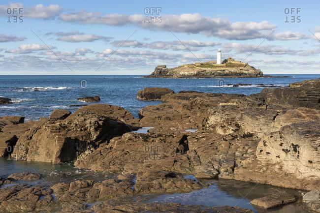 Godrevy Lighthouse, Cornwall, England, UK