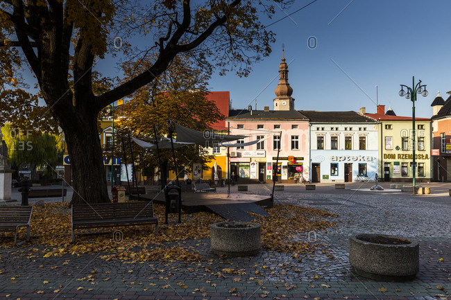October 16, 2019: Europe, Poland, Silesian Voivodeship, Lubliniec city view